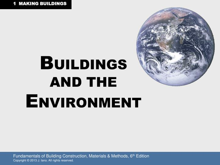 b uildings and the e nvironment n.