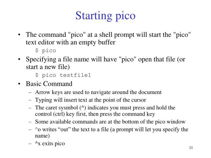 Starting pico