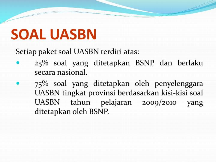 SOAL UASBN