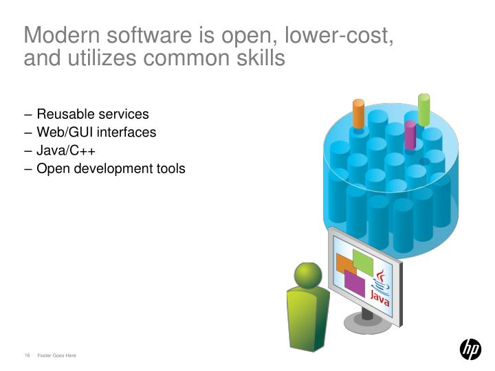 Modern software is open, lower-cost,
