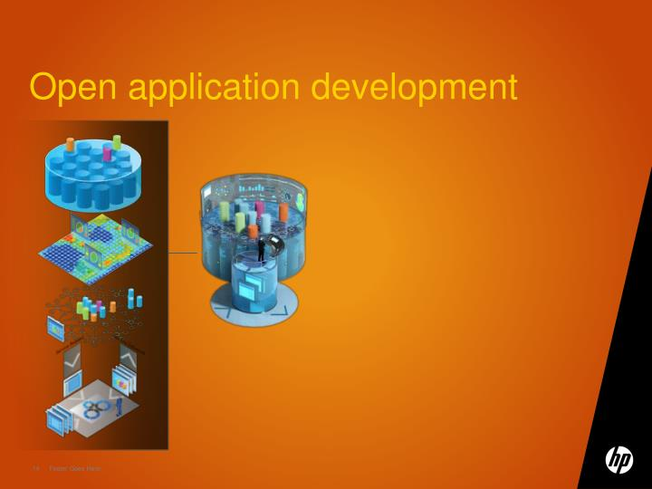 Open application development
