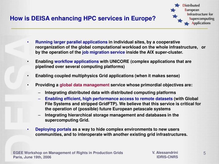 How is DEISA enhancing HPC services in Europe?