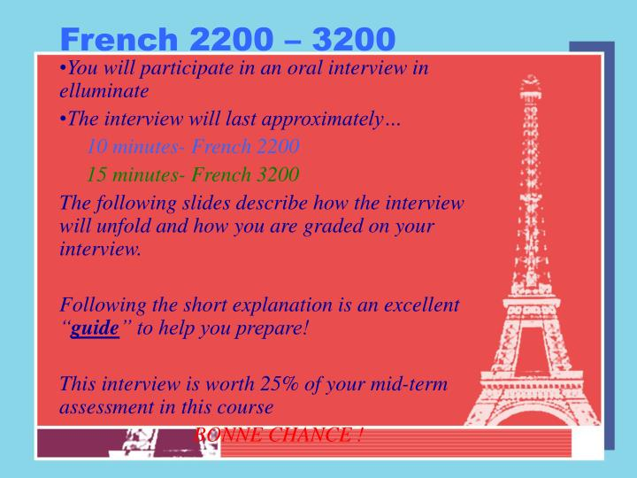 French 2200 3200