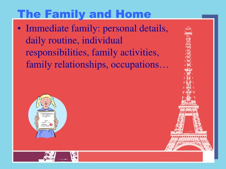 The Family and Home