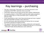 key learnings purchasing