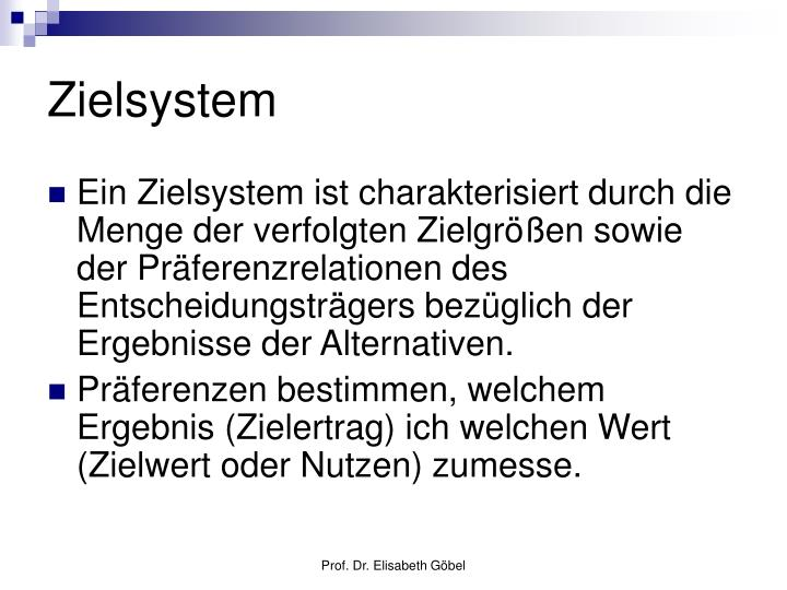 Zielsystem