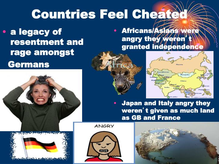 Countries Feel Cheated