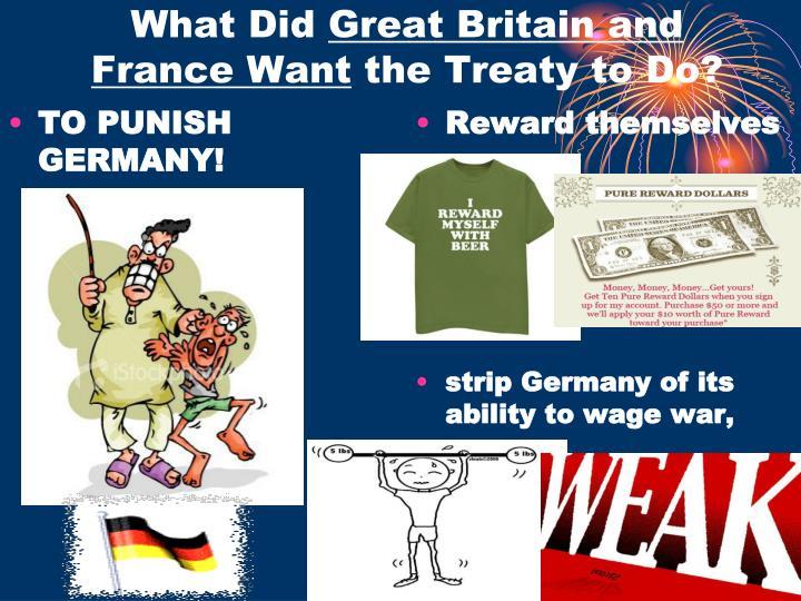 TO PUNISH GERMANY!