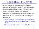 a little history first unix