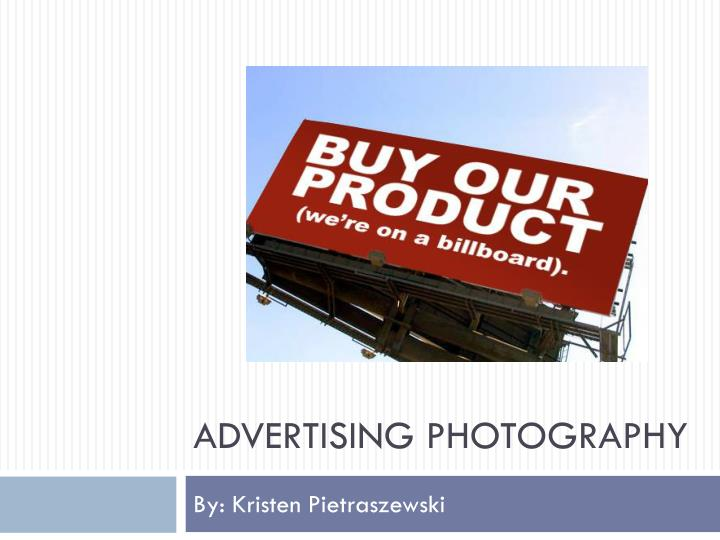 advertising photography n.