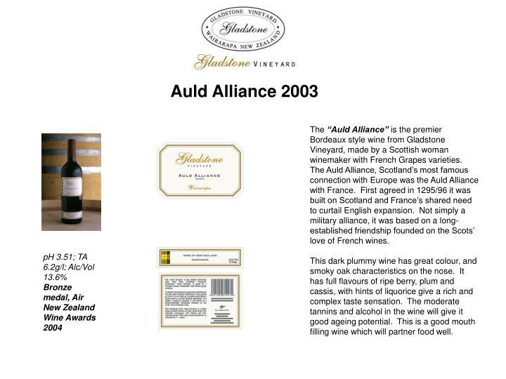 Auld Alliance 2003