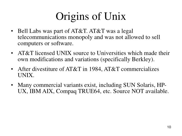 Origins of Unix