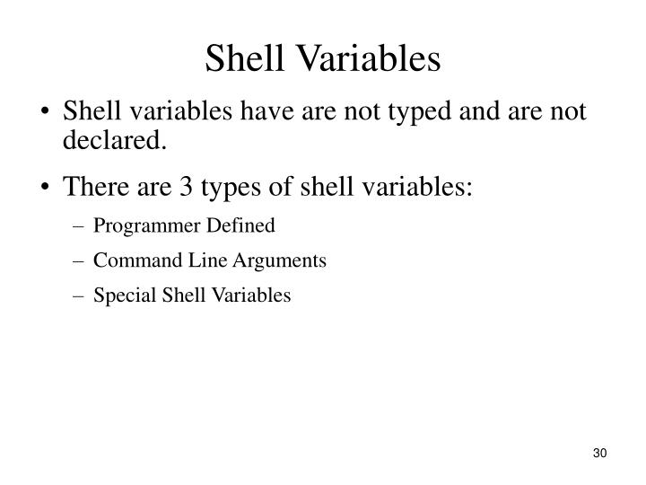 Shell Variables