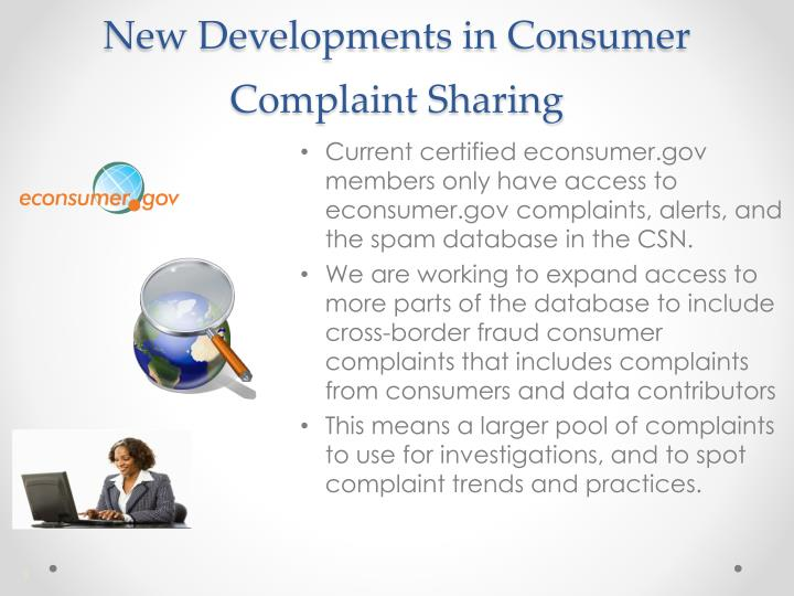 New Developments in Consumer Complaint Sharing