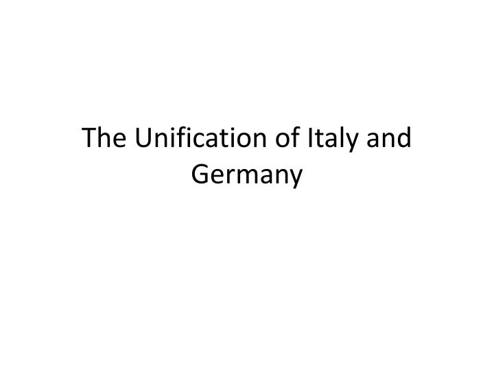 an analysis of the unification of italy  unification of italy the unification of italy in the 19th century was one of the most significant events in the history of the peninsula and of europe as well not only did it alter the european balance of power but it also paved the way for the future.