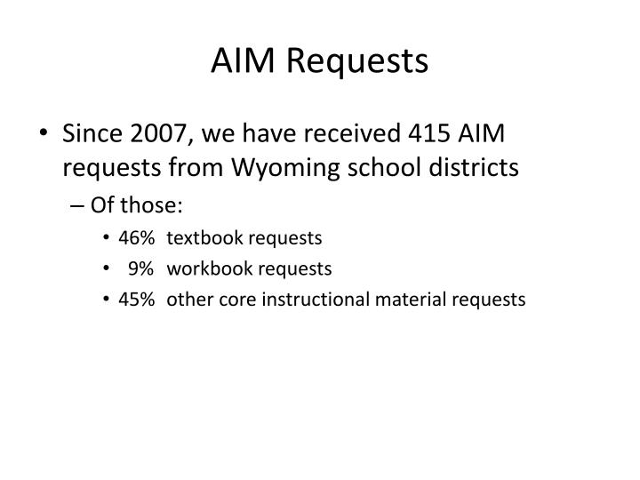 AIM Requests