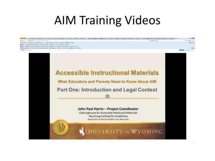 AIM Training Videos