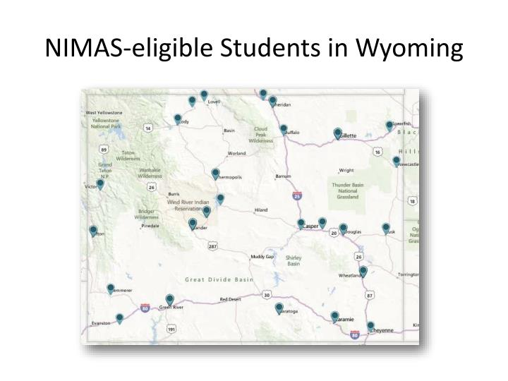 NIMAS-eligible Students in Wyoming