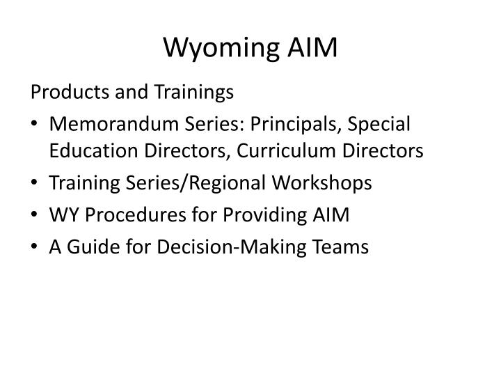 Wyoming AIM