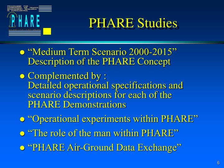 PHARE Studies