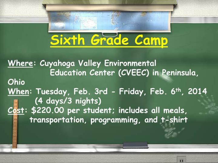 Sixth Grade Camp