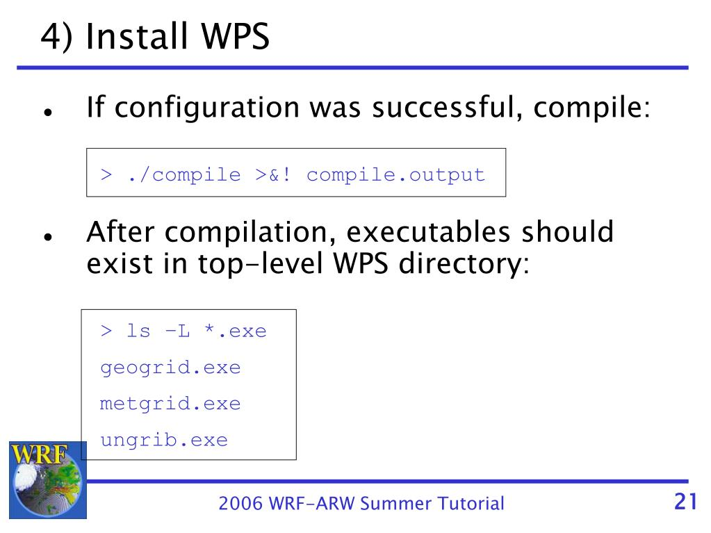 PPT - Installing and Running the WPS PowerPoint Presentation