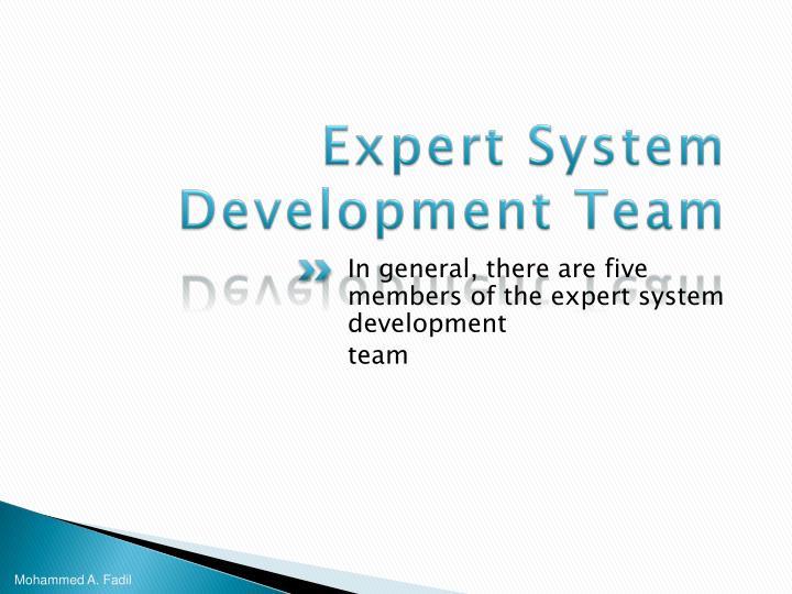 Expert System Development Team