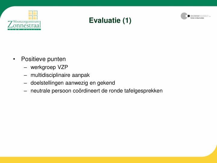 Evaluatie (1)