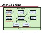 an insulin pump