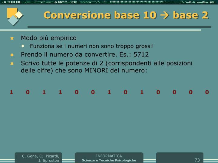 Conversione base 10