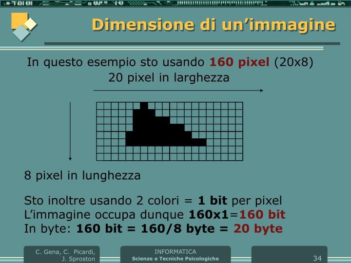 Dimensione di un'immagine