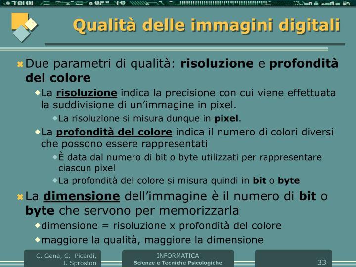 Qualità delle immagini digitali