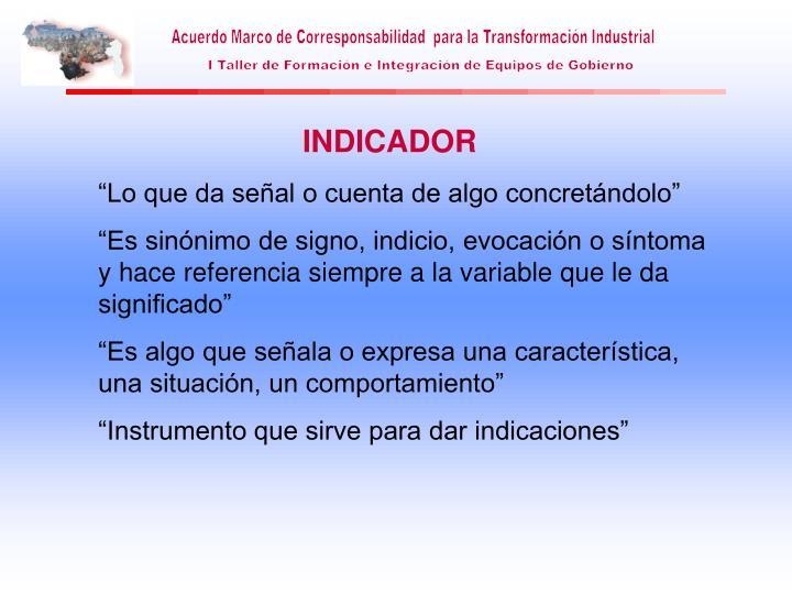 INDICADOR