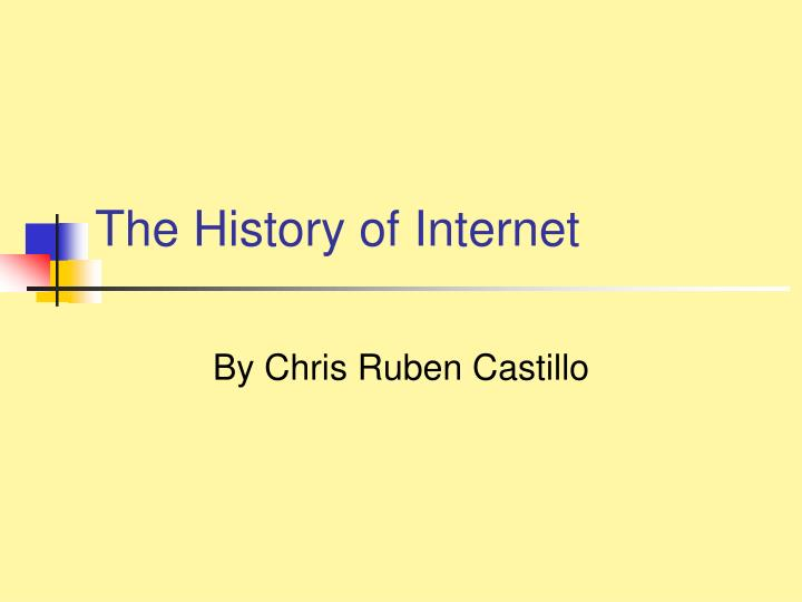 the history of internet n.