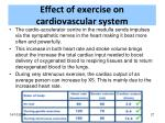 effect of exercise on cardiovascular system