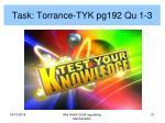 task torrance tyk pg192 qu 1 3