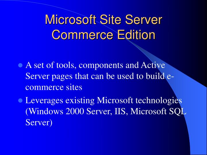 microsoft site server commerce edition n.