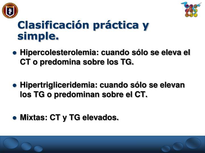 Clasificación práctica y simple.