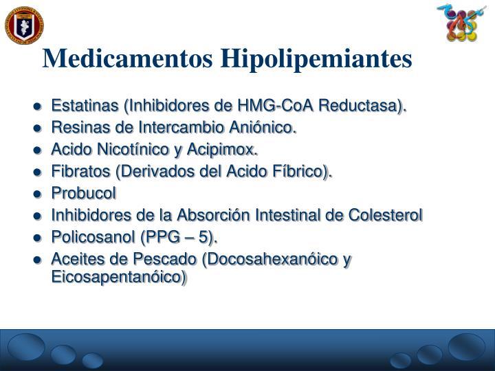 Medicamentos Hipolipemiantes