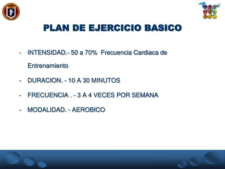 PLAN DE EJERCICIO BASICO