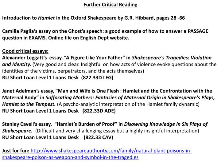 Ppt Hamlet Act 5 The Reality Of Death The Rest Is Silence