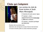clubs qui s adaptent