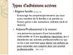 types d adh sions actives1