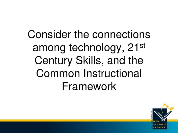 Consider the connections among technology, 21