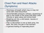 chest pain and heart attacks symptoms