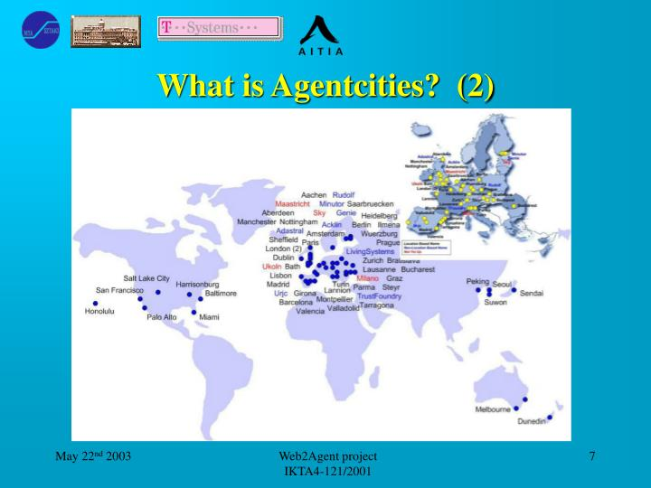 What is Agentcities?  (2)