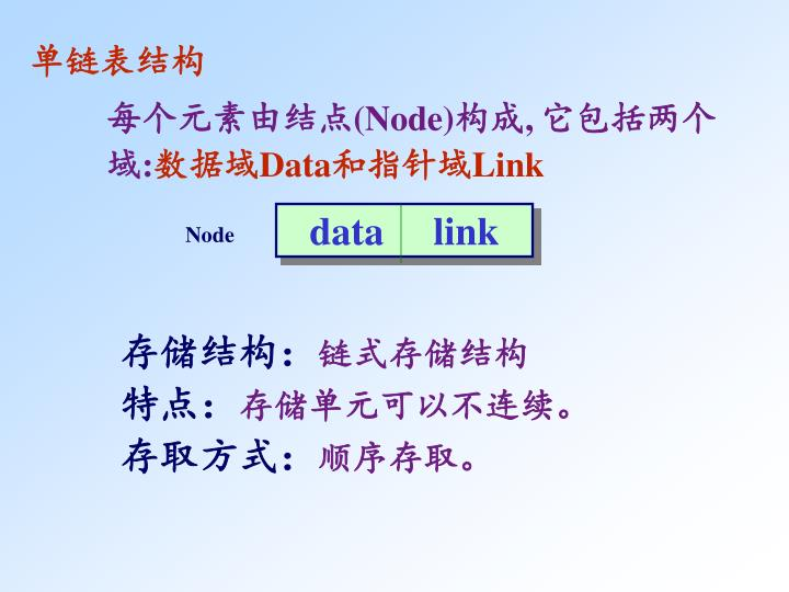 单链表结构