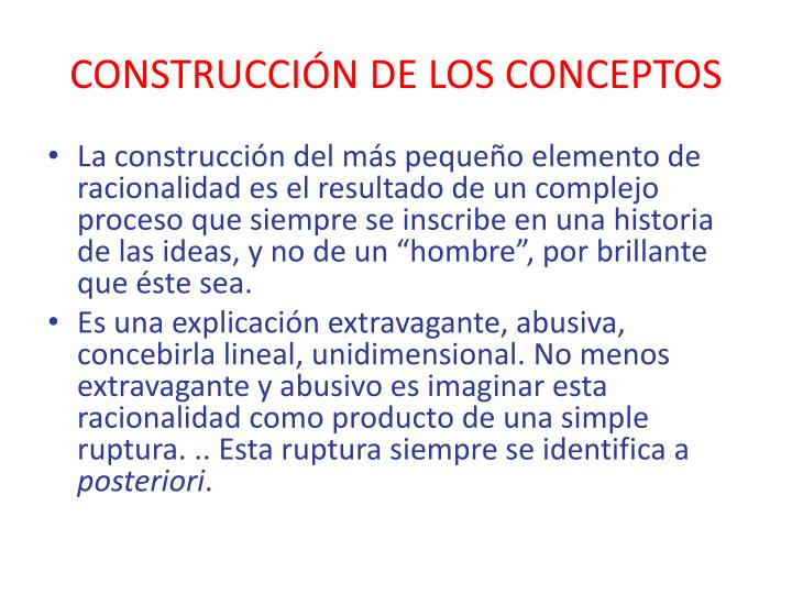 CONSTRUCCIÓN DE LOS CONCEPTOS