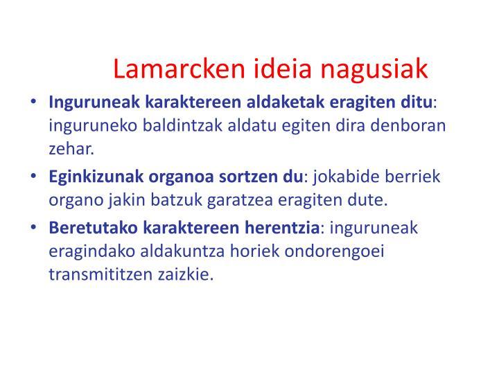 Lamarcken ideia nagusiak