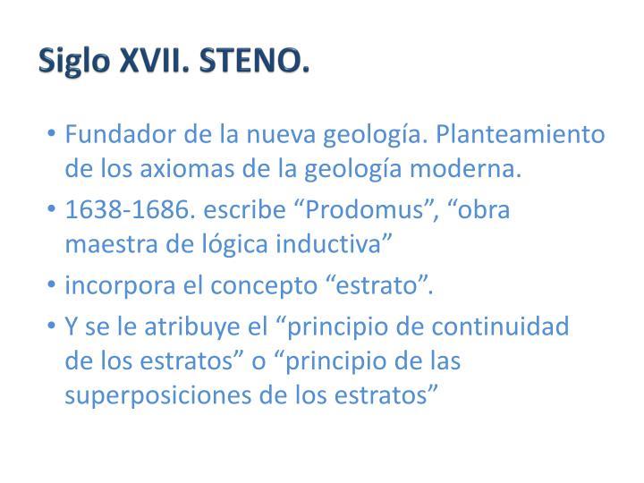Siglo XVII. STENO.